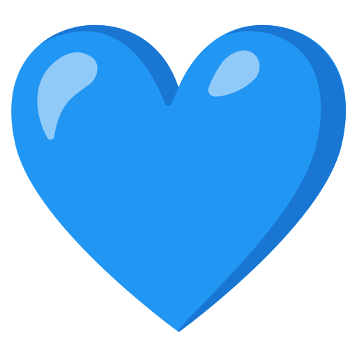 The Blue Heart Emoji