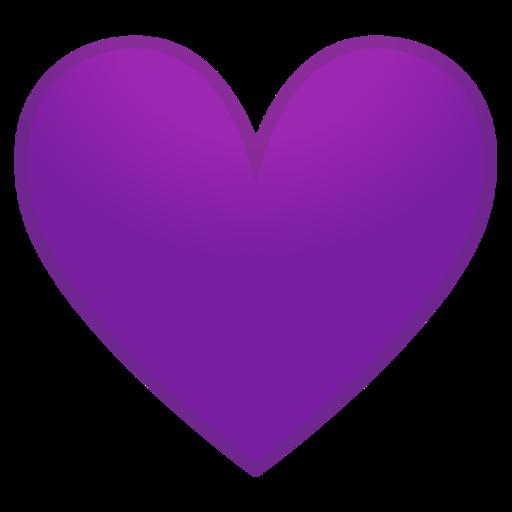 The Purple (Violet) Heart Emoji