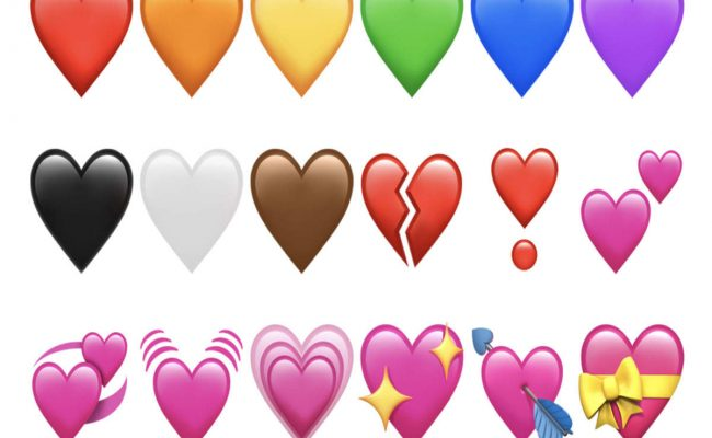 Colored Emoji Hearts