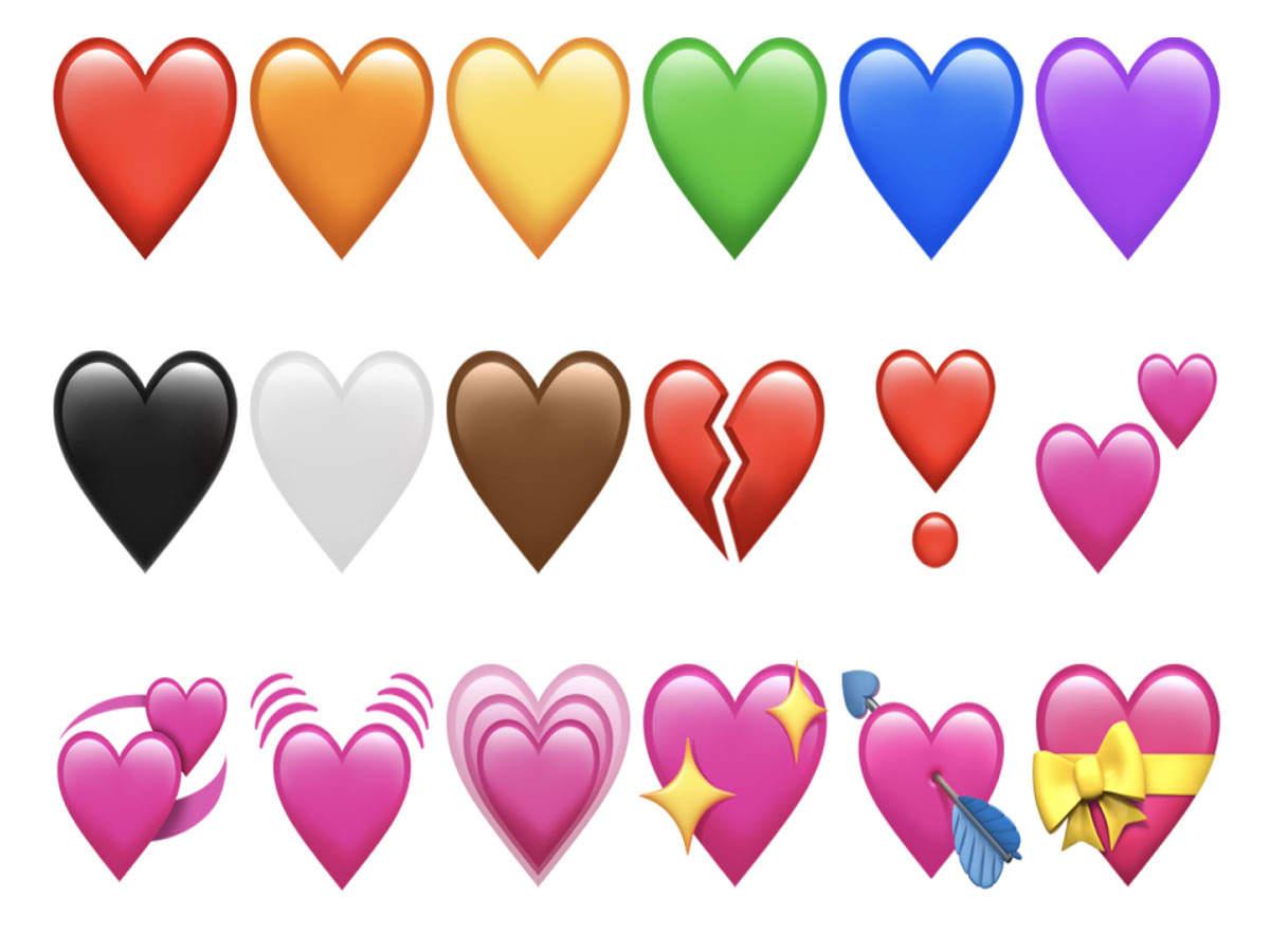 Colored Emoji Hearts